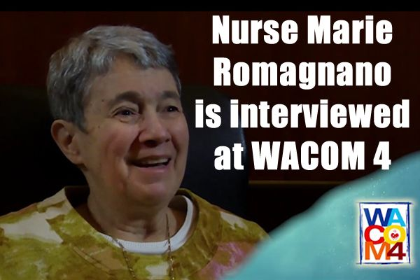 Nurse Marie is interviewed at WACOM 4