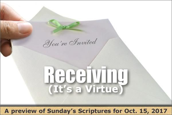 Receiving (It's a Virtue)