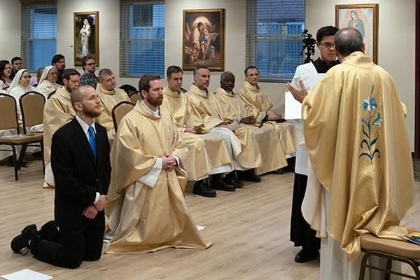 Two Men Profess First Vows