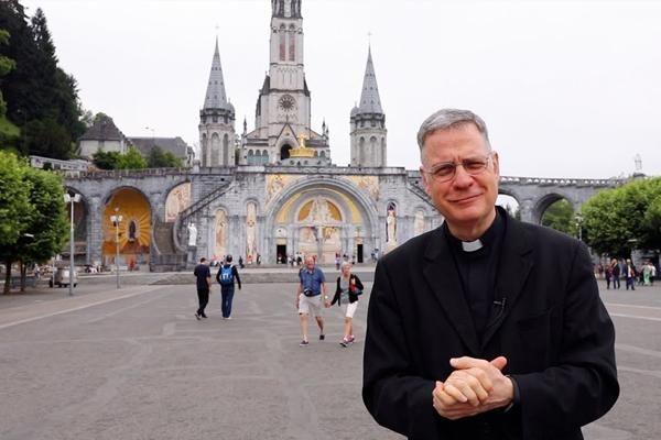 Lourdes, France, with Fr. Joseph Roesch, MIC