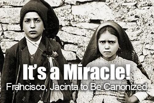 Pope Approves Second Miracle for Blessed Francisco, Jacinta Marto
