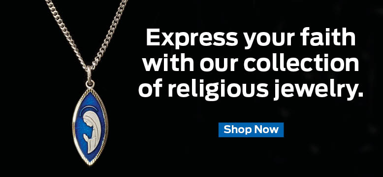 Express your faith with our collection of religious jewelry.  Shop Now