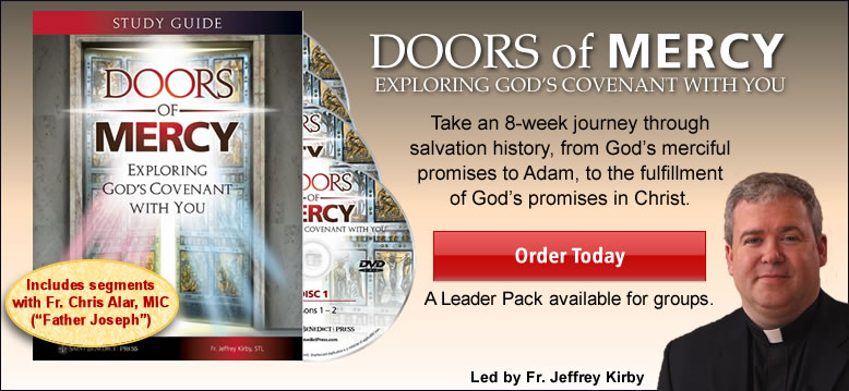DOORS of MERCY EXPLORING GOD'S COVENANT WITH YOU  Take a 8-week journey through salvation history, from God's merciful promises to Adam, to the fulfillment of God's promises in Christ.  Order Today  A LEader PAck available for groups.  Led by Fr. Jeff Kirby